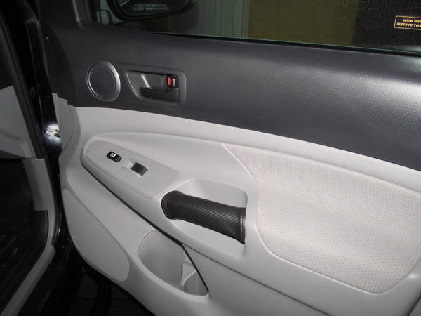 RedlineGoods Carbon Fiber Pattern Door Grip - Passenger Side