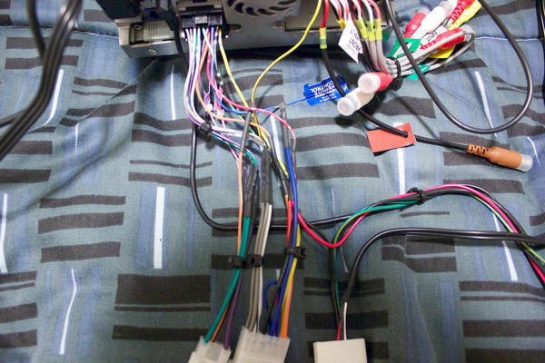 Head unit wire harness