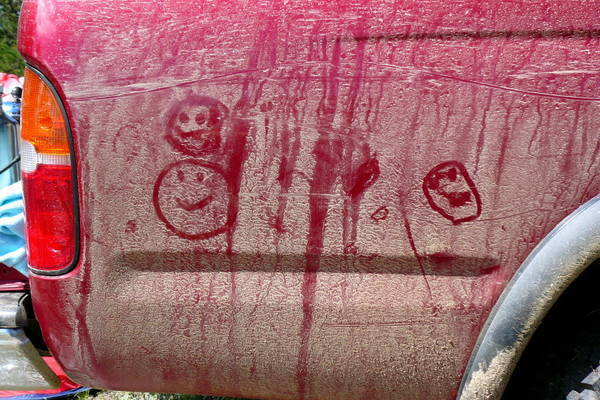 Daughter's (3 years old at the time) hieroglyphics while camping