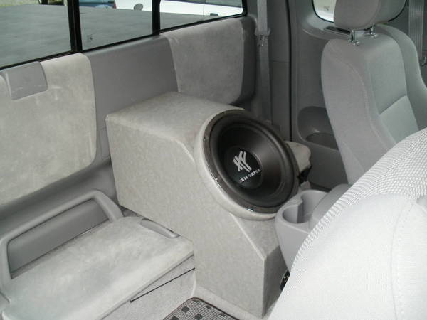 Subwoofer Under My Driver Seat Or Against The Back Of The