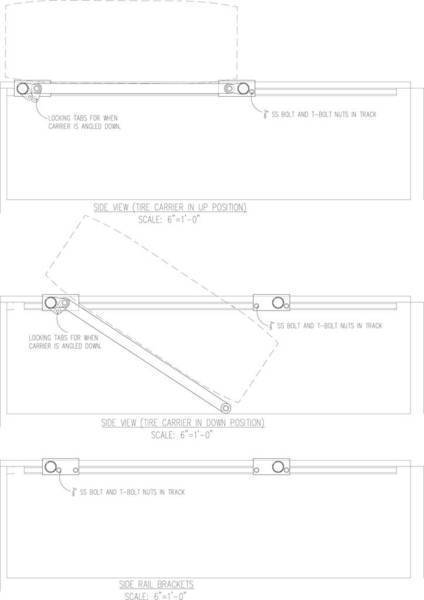 Tire Carrier Bed Bars Schematic