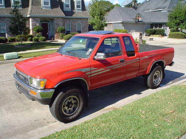 I Know It S Not A First Gen But Here Is Pic Of My 1991 Toyota Pickup With The Factory Sunroof Tilted Open Lot Like Rear Windows