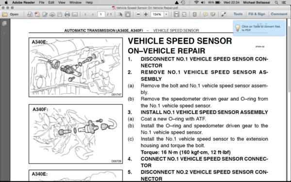 Speed Sensor Location Please Help Taa Worldrhtaaworld: Toyota 4runner Sd Sensor Location At Gmaili.net