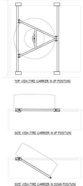 tire carrier design