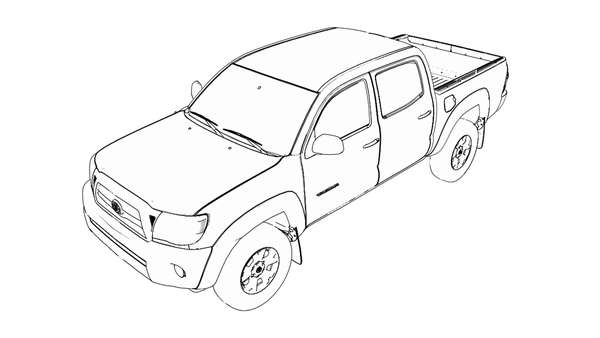 toyota tacoma pick up line drawings sketch coloring page