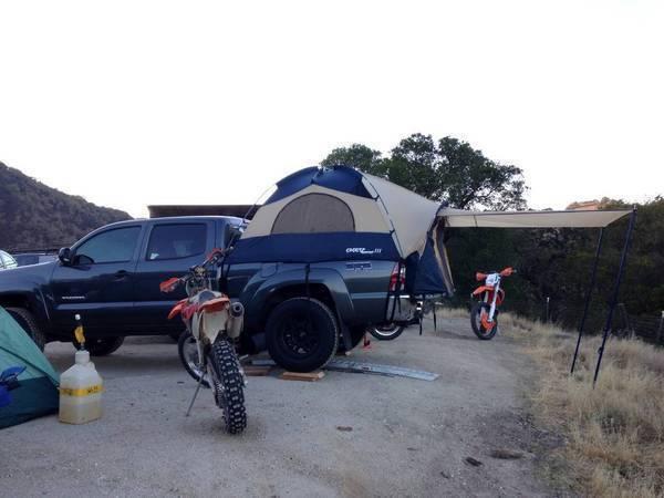 best camping setup pack rack vs camper shell tacoma world. Black Bedroom Furniture Sets. Home Design Ideas