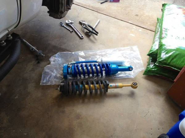 old and new coilovers