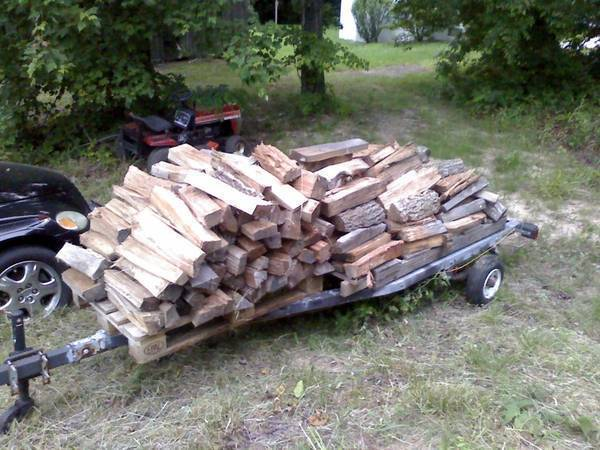 Wood for our RC trip this weekend.
