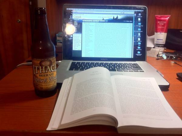 Beer and abstract English reading. 1 out of 2 ain't bad.