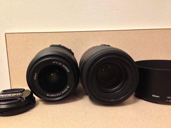 Nikon 18-55, 55-200 FS