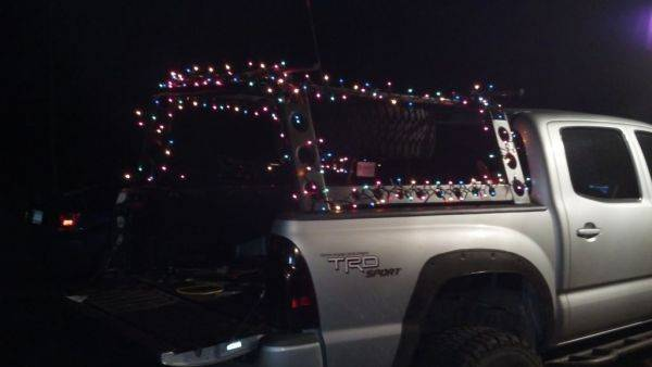 Festive truck is festive