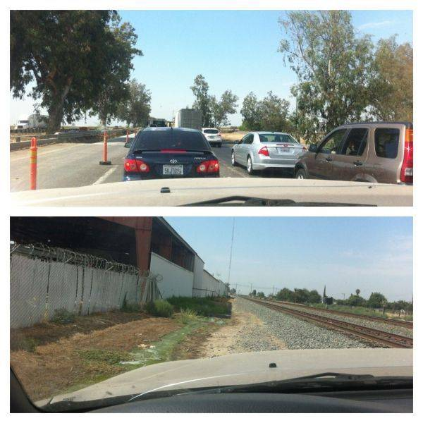 Traffic jam on the freeway?� Take the railroad haha.�