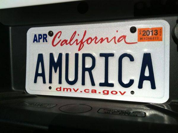 Brothers new license plate. �AMURICA. Fck the rest.�