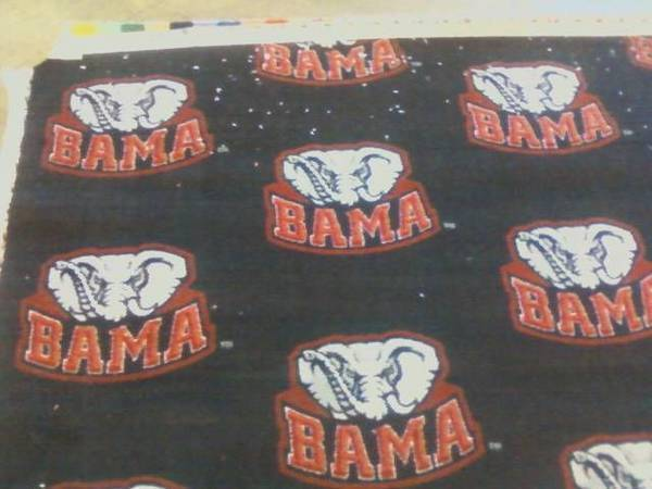 Installing alabama carpet today lol This picture message or video message w