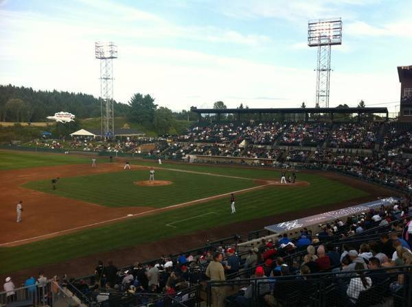 A little minor league action with Mt Rainier in the background
