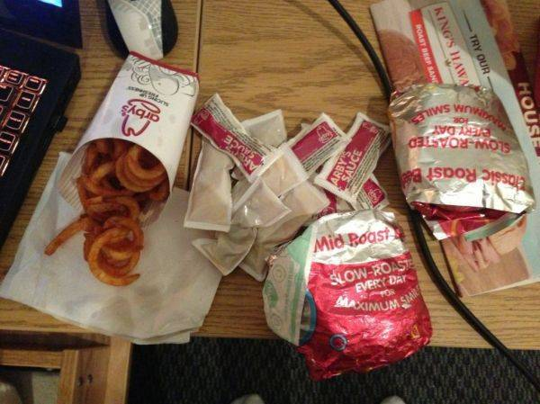 I love Arby's, especially when they accidentally give you TWO sandwich