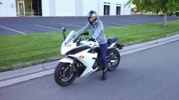 GF on her new bike.