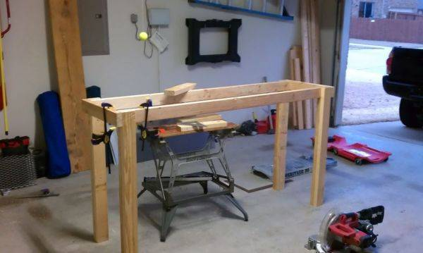 Work bench in progress
