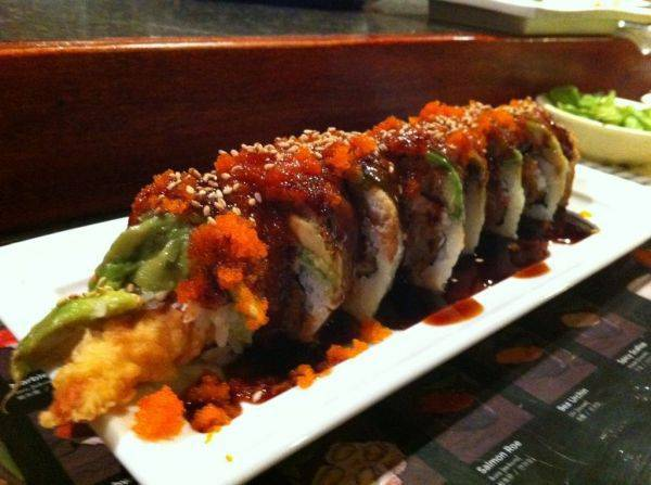 Spicy dragon roll =heaven.�