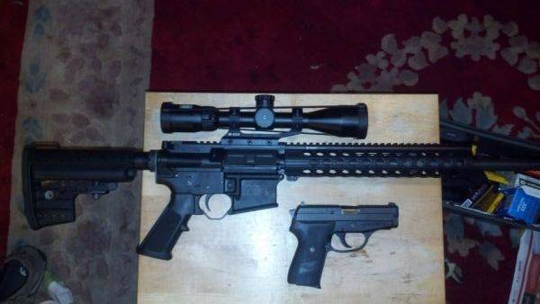 S&W AR 15 and Sig 239 9mm.. degreased and relubed with Froglube. Only t
