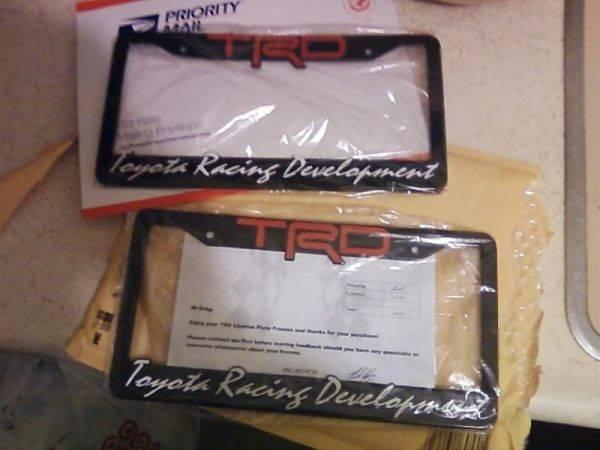TRD License Plate Frames