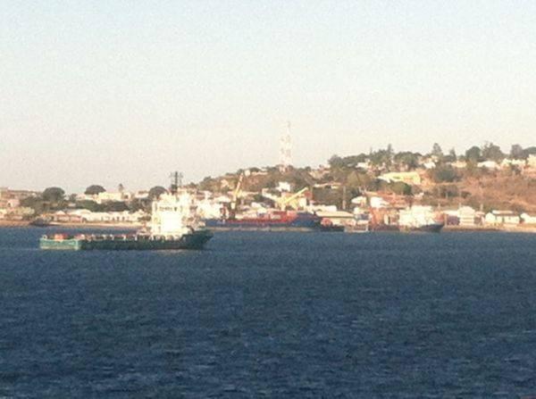 In port...