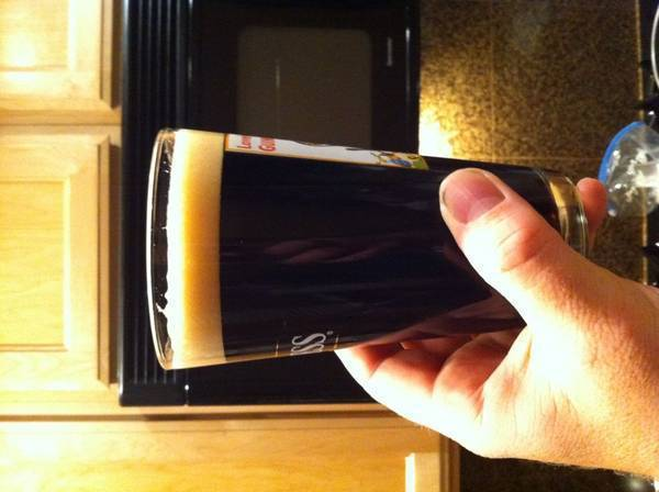 Home brewed stout! Keg'ed and carbonated.