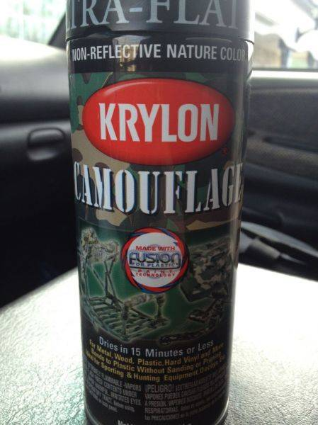 Gonna try this krylon camouflage ultra black for the lip on my Satoshi