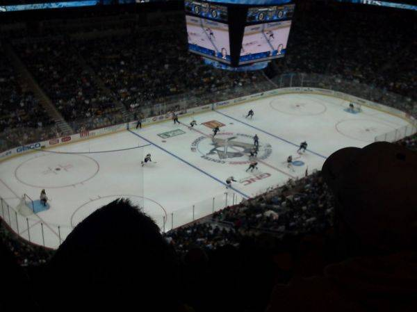 View from Penguins vs Bruins game. Nosebleed section fo sho but tix were fr