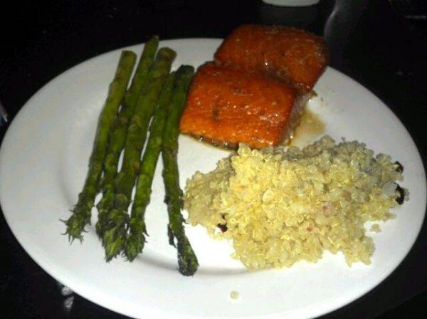 Alaskan wild salmon smoked at 225.00 for 25min :hungry: