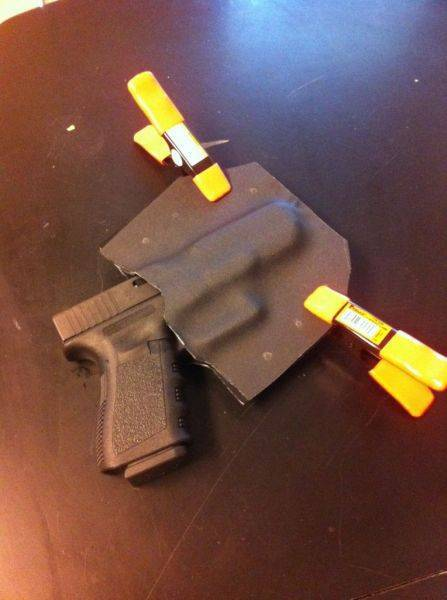 Making my own kydex holster for national gun appreciation day.