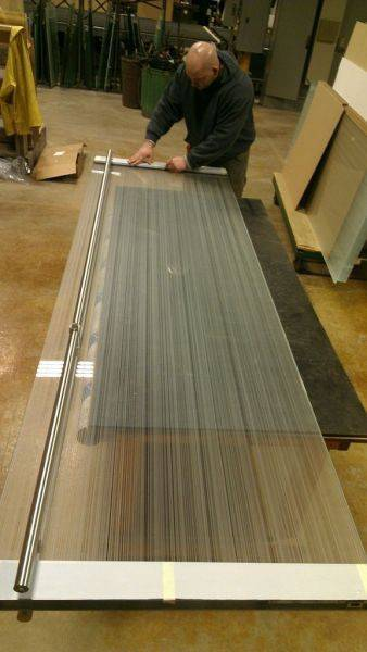"Custom 5/8"" low iron double side acid etched glass, 316 grade US32D ra"