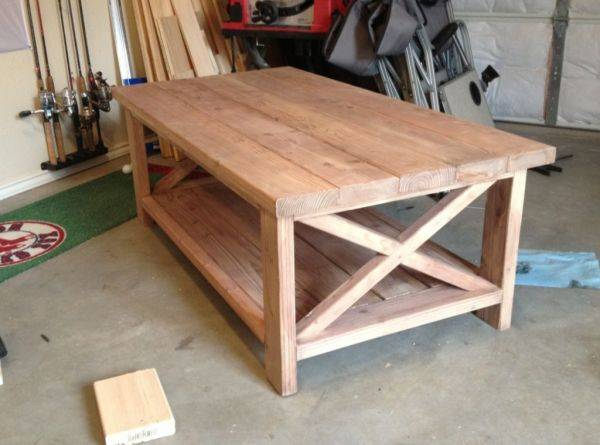 Oxidized pine rustic coffee table.
