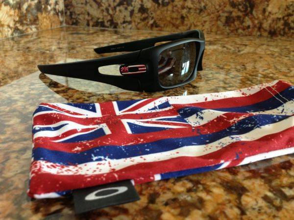 My new Oakley crankcase matte black polarized Hawaii edition