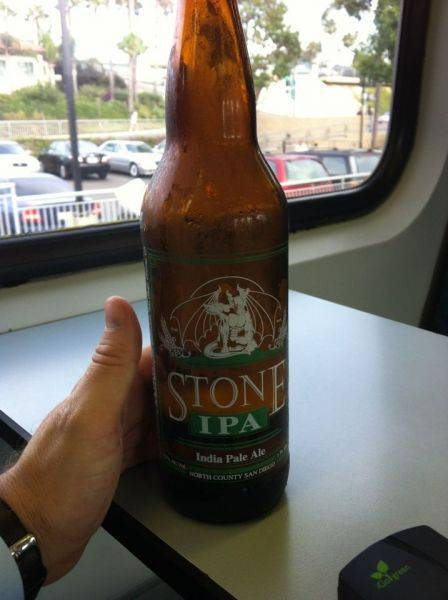 The train allows alcohol consumption. Gotta love it. ��