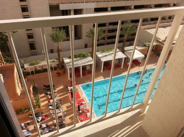 At vegas... nice pool view.