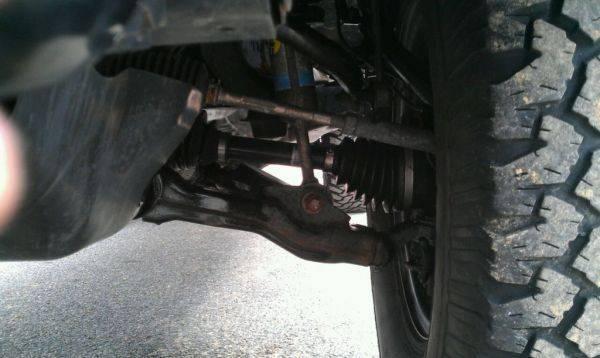 Driver side cv angle
