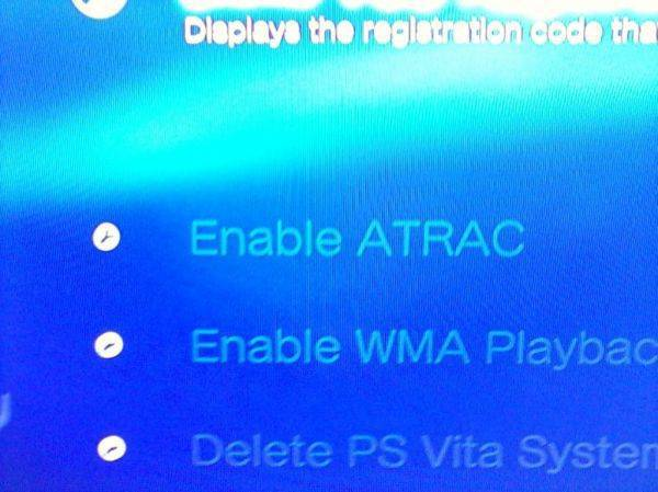 my PS3 has atrac :laughing: