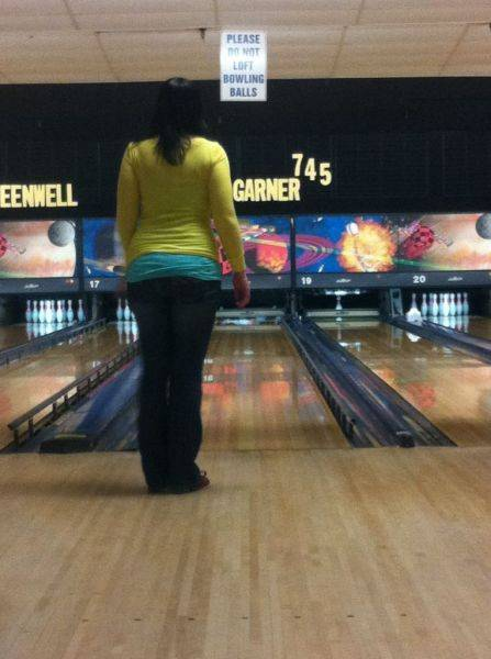 Her first strike....ever.
