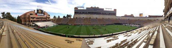 Taken about an hour prior to kickoff at Folsom Field in Boulder, CO.