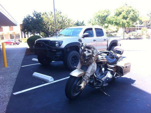 Epic lion bike.�