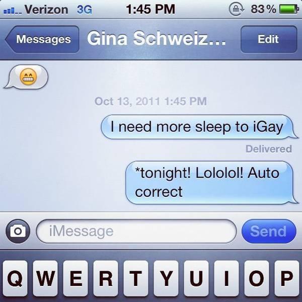 Autocorrect hahahaha