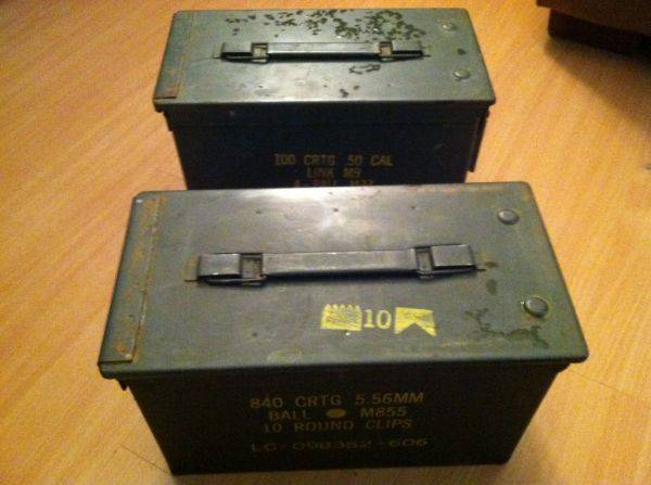 Ammo cans!