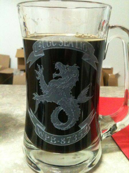 Hogshead brewery stout and my own personal stein.