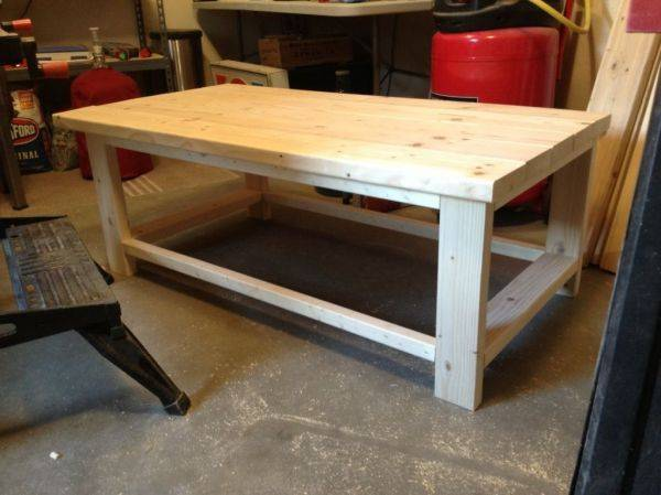 The makings of a rustic coffee table.