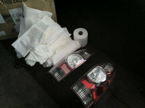Bought some tail lights from a member on here...got a free roll of toilet p