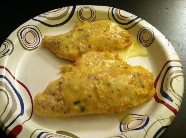 Paper plate cuisine! Chicken piccata!