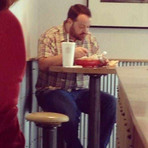 I thought I spotted actor Kevin James at Chipotle today.