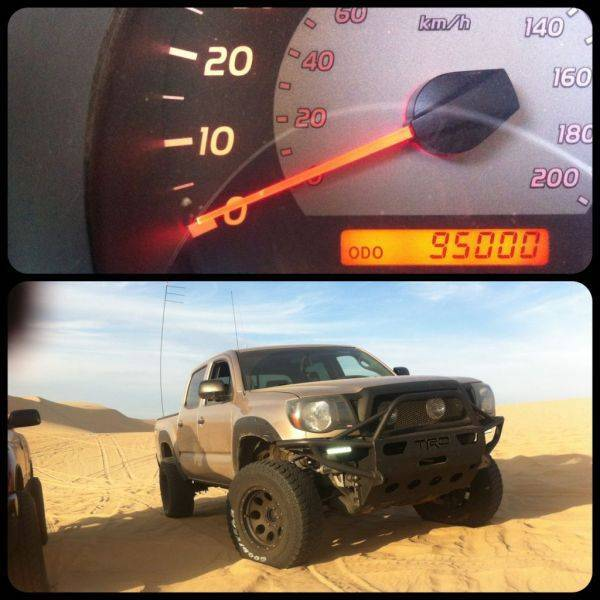 Not live but I hit 95k while hanging with my TW brethren out in Pismo.