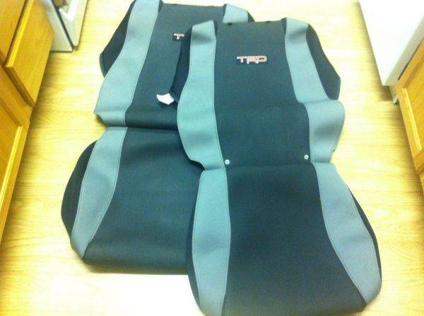 Selling these TRD seat covers. $90 + shipping. Pm me. I'll be making a
